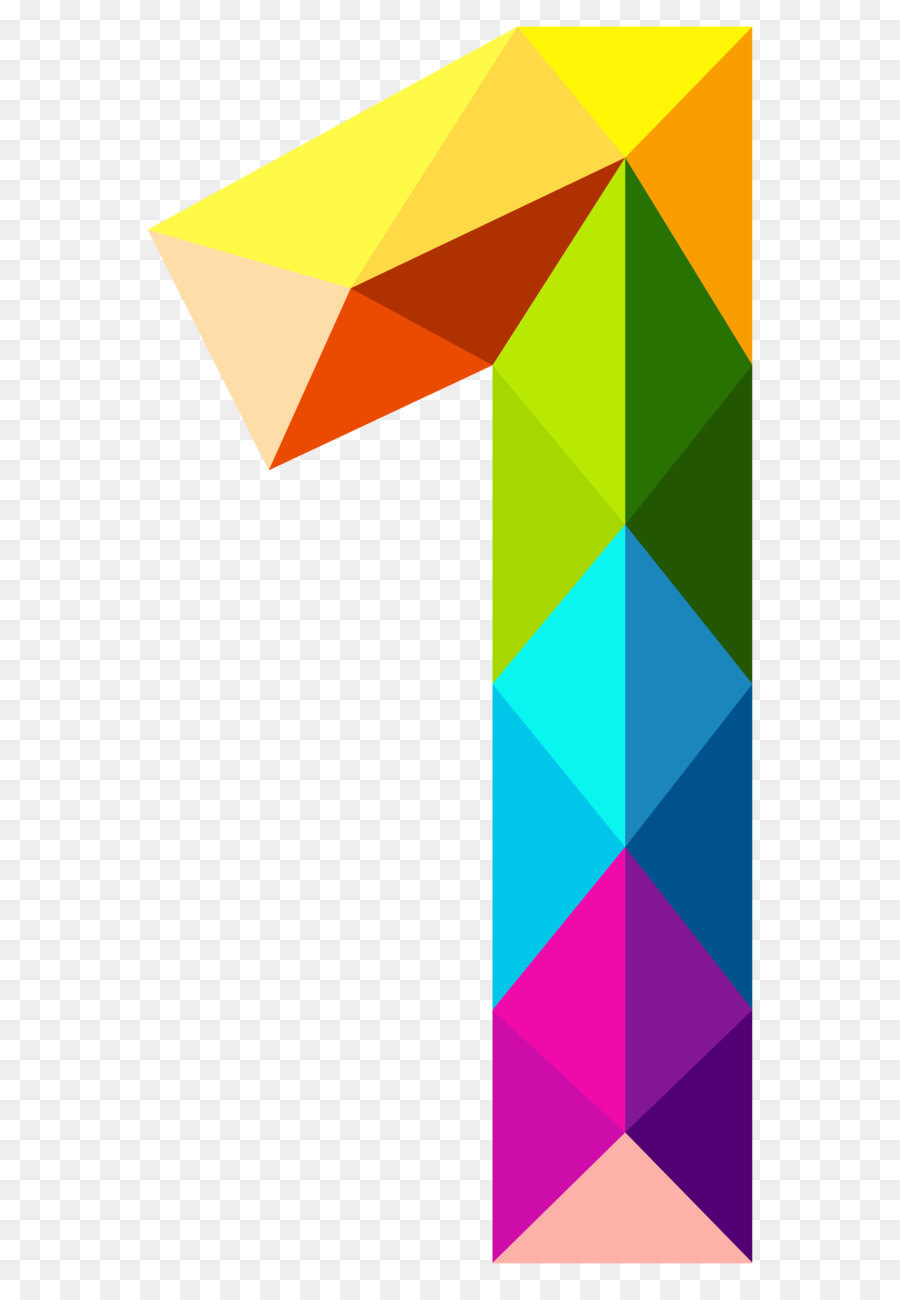 number color clip art colourful triangles number one png clipart rh kisspng com number one clipart images number one clipart png