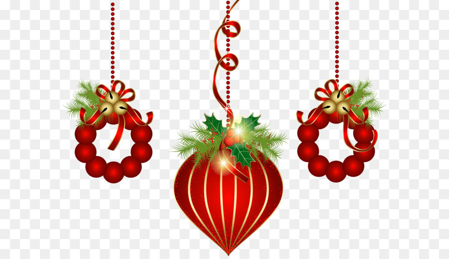 christmas decoration christmas ornament christmas tree clip art transparent red christmas ornaments png clipart - Red Christmas Ornaments