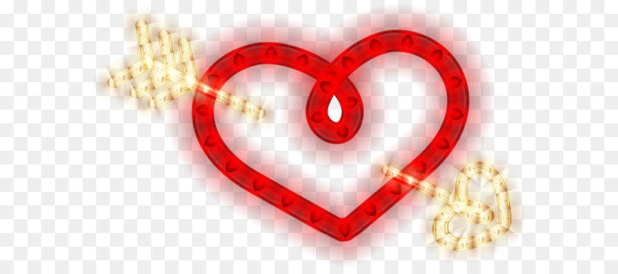 Cinta Merah Hati Hati Dengan Panah Hati Bersinar Png Clipart