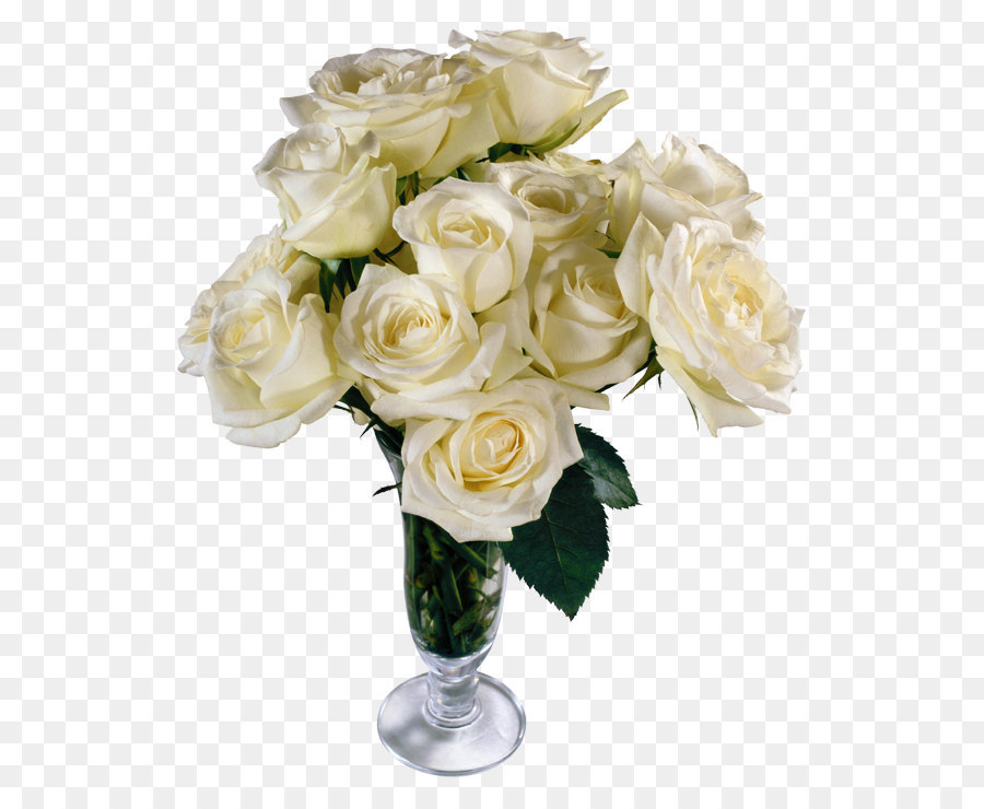 Flower Bouquet Rose Clip Art   White Roses Transparent Vase Bouquet