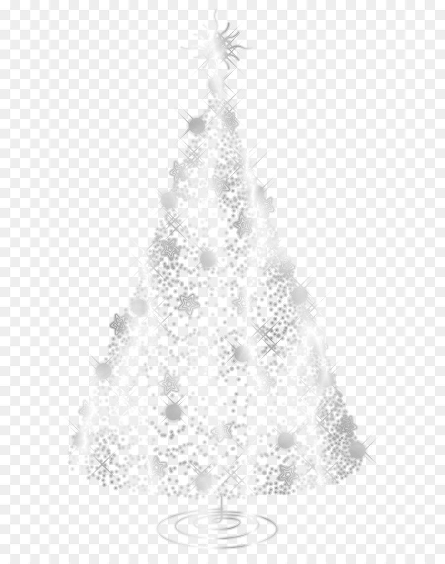 Christmas Tree White Silver Transparent Silver Decorative
