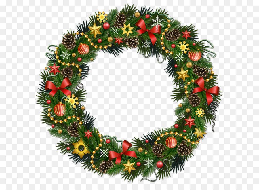 Rudolph Christmas Wreath Clip Art