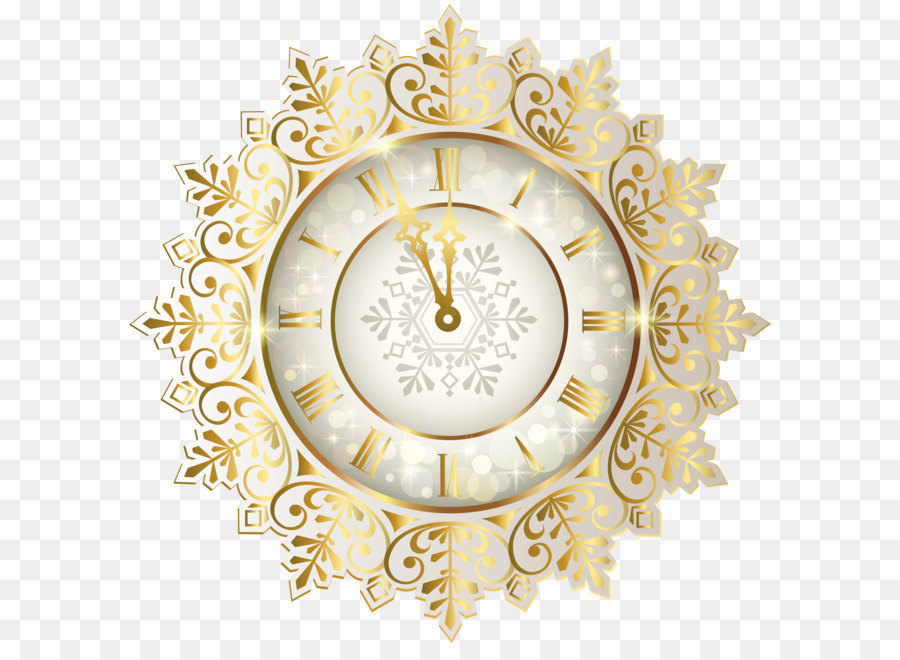 Clock of the Long Now New Year Clip art - Gold New Year Clock PNG ...
