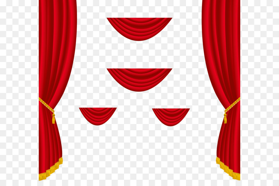 Theater Drapes And Stage Curtains Window Clip Art