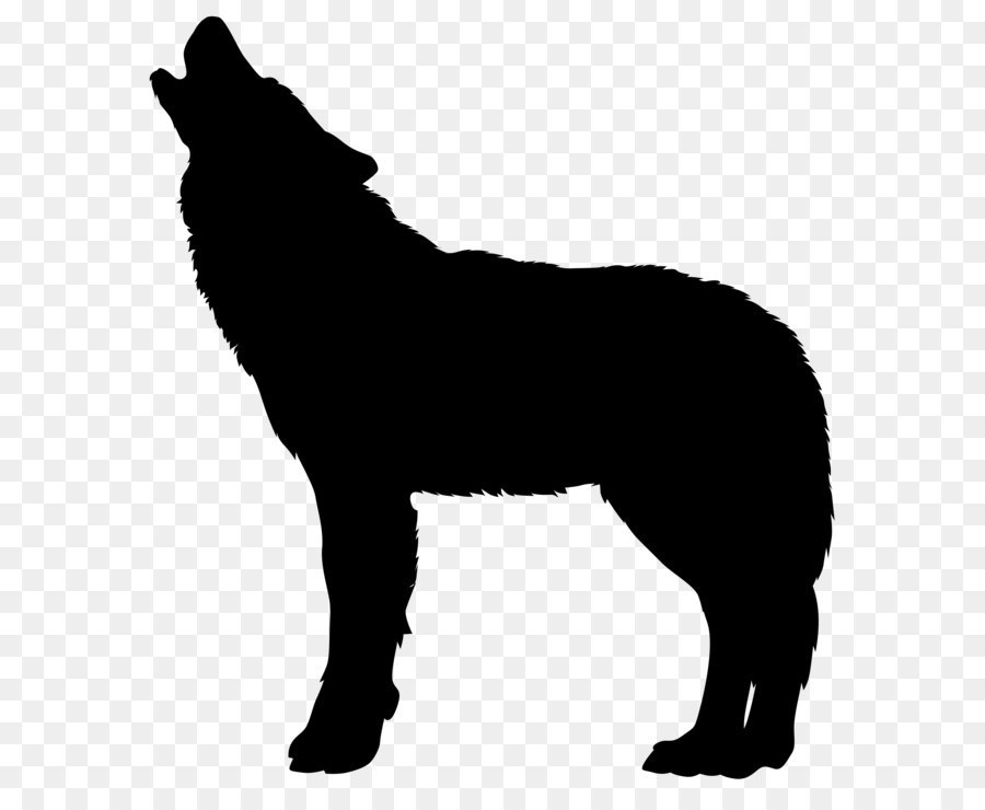dog breed horse black and white howling wolf silhouette