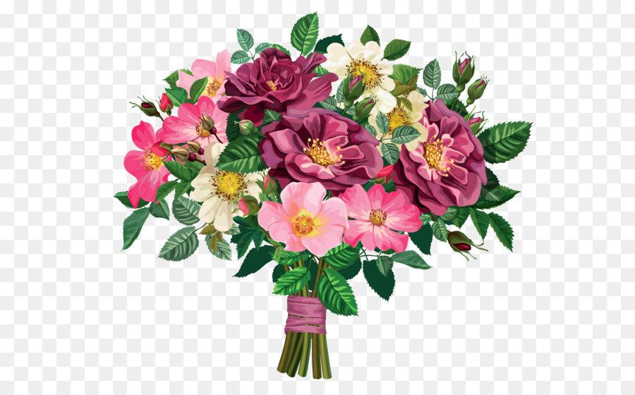 Flower bouquet Clip art - Rose Bouquet Transparent Clipart png ...