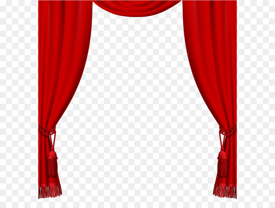Theater Drapes And Stage Curtains Transparent Red