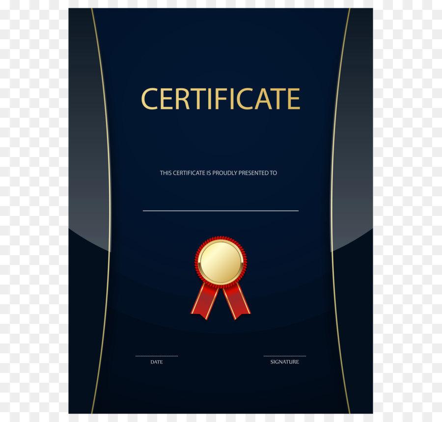 Template Form Academic Certificate Rsum Dark Blue Certificate