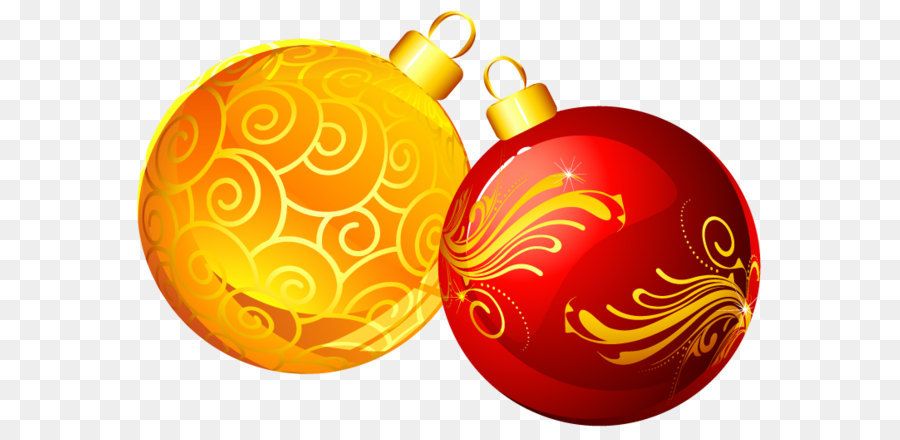 yellow christmas ornaments