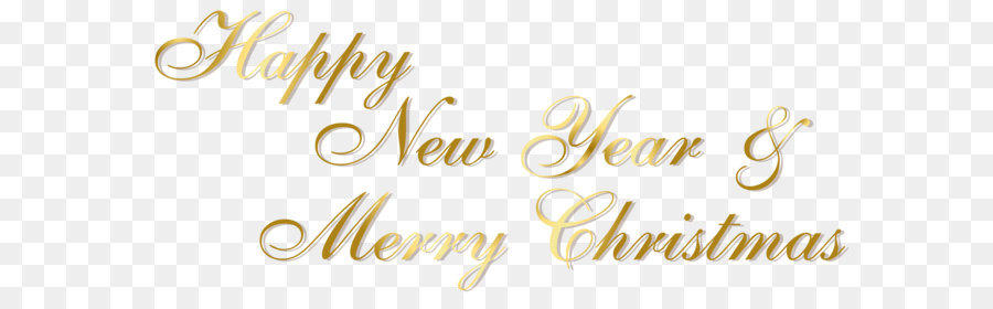 Christmas New Year\'s Day Clip art - Gold Happy New Year and Merry ...
