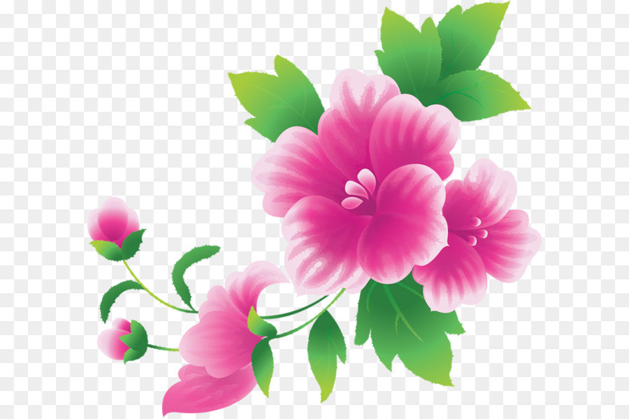 Pink Flowers Clip Art Large Clipart