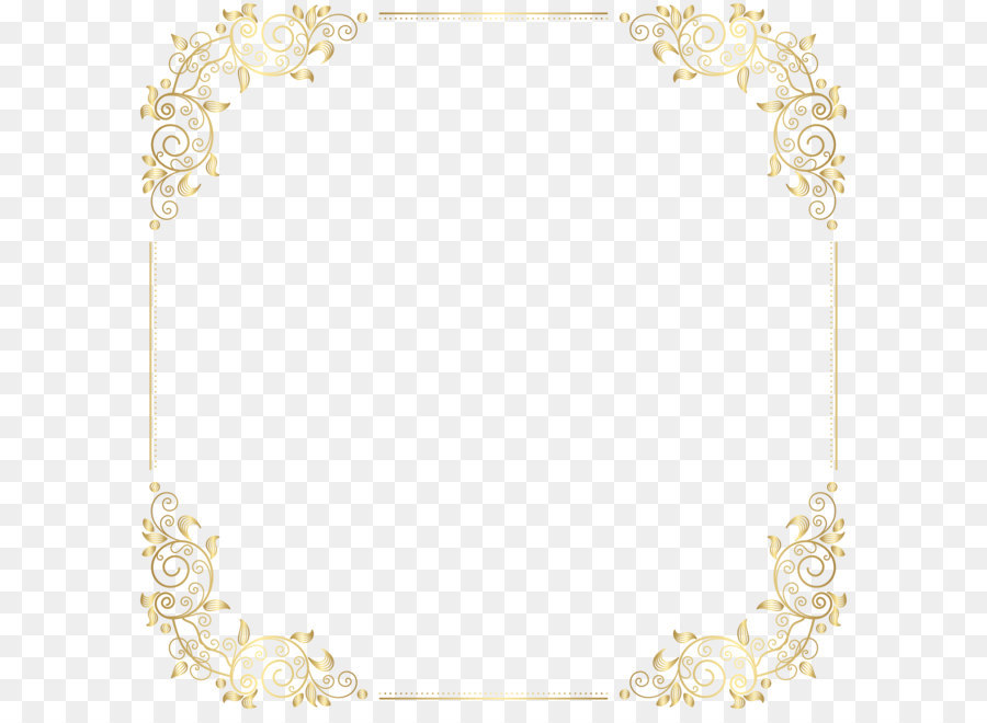 Yellow Placemat Pattern - Deco Border Frame PNG Clip Art png ...