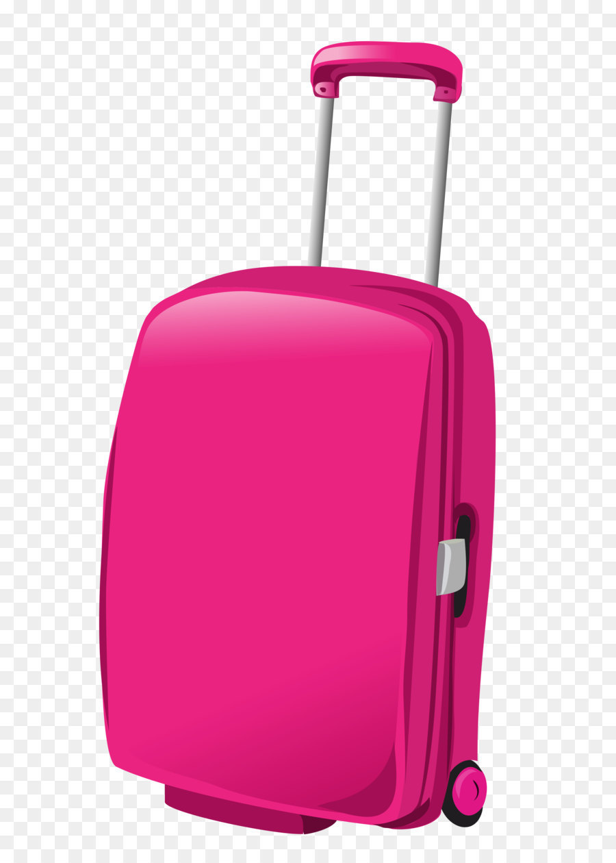 Suitcase Baggage Travel Pink Clip Art Pink Travel Bag Png Clipart