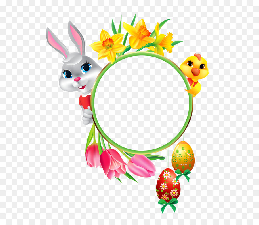 Easter Bunny Easter egg Clip art - Easter Bunny and Chicken with ...
