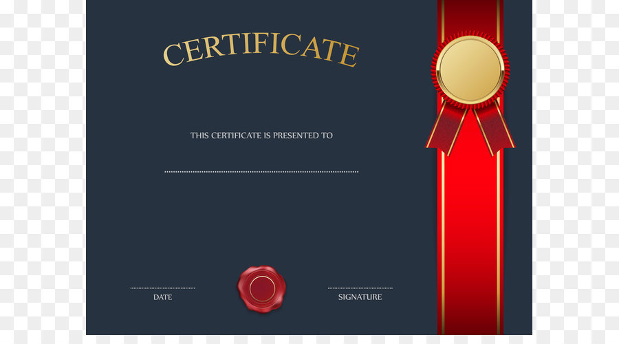 Template Clip Art Blue Certificate Template Png Image Png Download