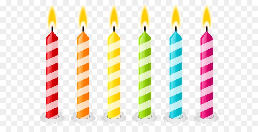 Birthday Cake Candle Clip Art Birthday Candles Png Vector Clipart