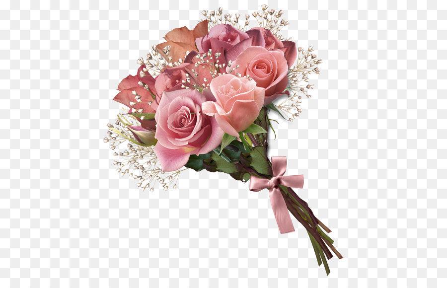 Flower bouquet Rose Clip art - Pink Rose Bouquet PNG Clipart png ...