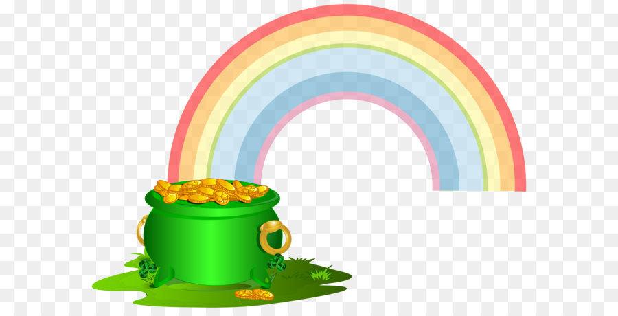 Oro arco iris Clip art - Verde Olla de Oro con arco iris PNG Imagen ...