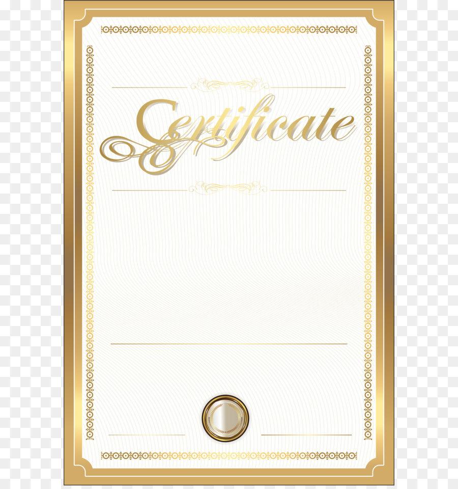 Paper Academic Certificate Gold Certificate Clip Art Gold