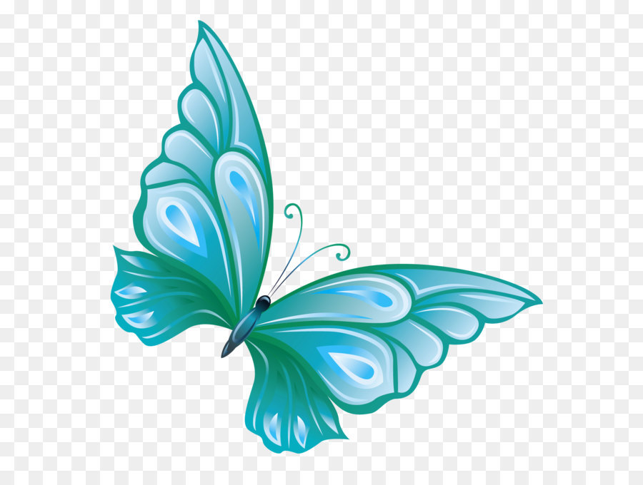 Butterfly Clip Art Transparent Blue Butterfly Png Clipart Png