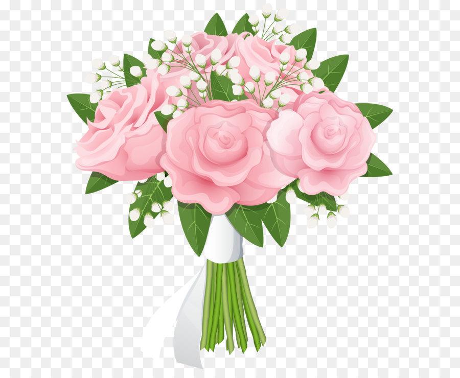 Flower Bouquet Rose Pink Rose Bouquet Free Png Clip Art Image 8000