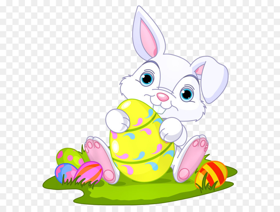 Easter bunny egg. Cartoon png download free