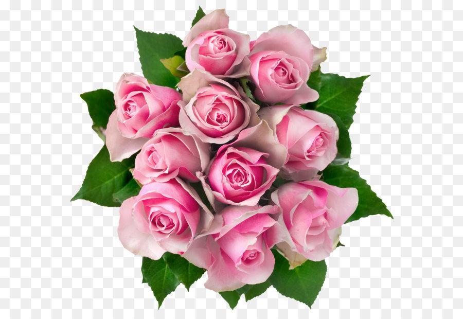 Flower bouquet Rose Pink Clip art - Transparent Pink Roses Bouquet ...