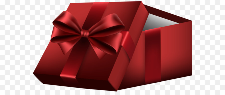 Gift Box Paper Clip art - Red Open Gift Box PNG Clip Art png ...