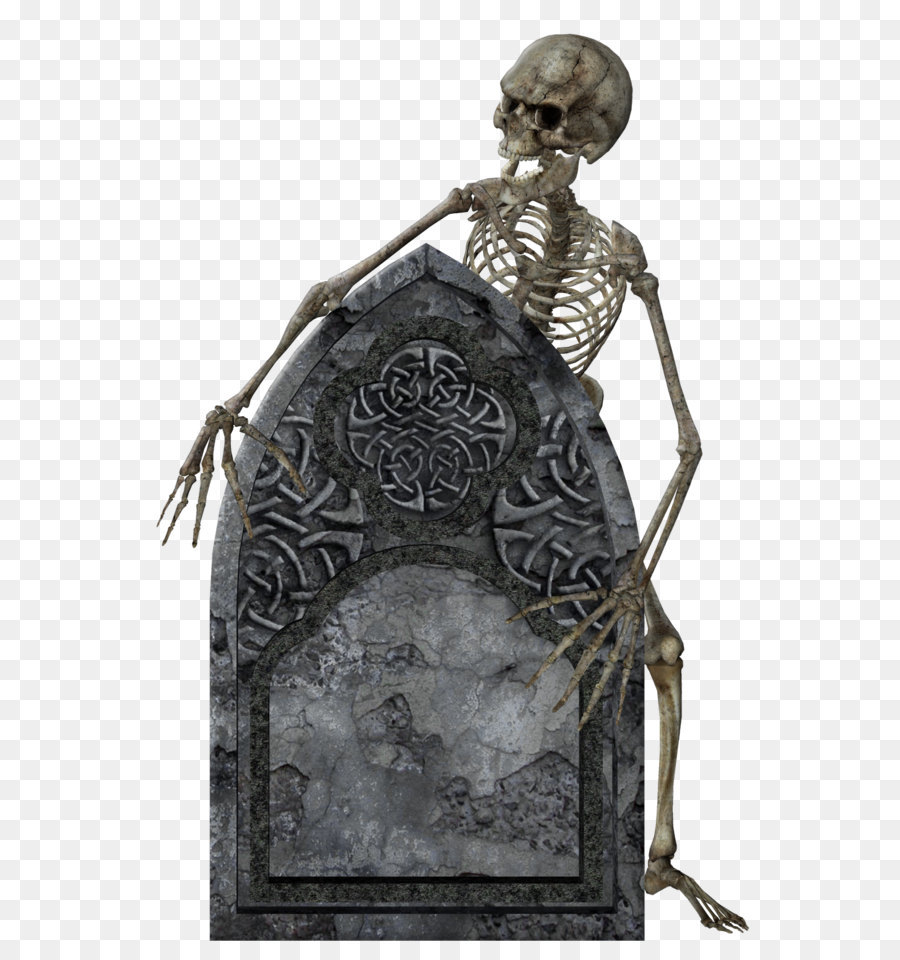 headstone halloween - skeleton with tombstone transparent picture