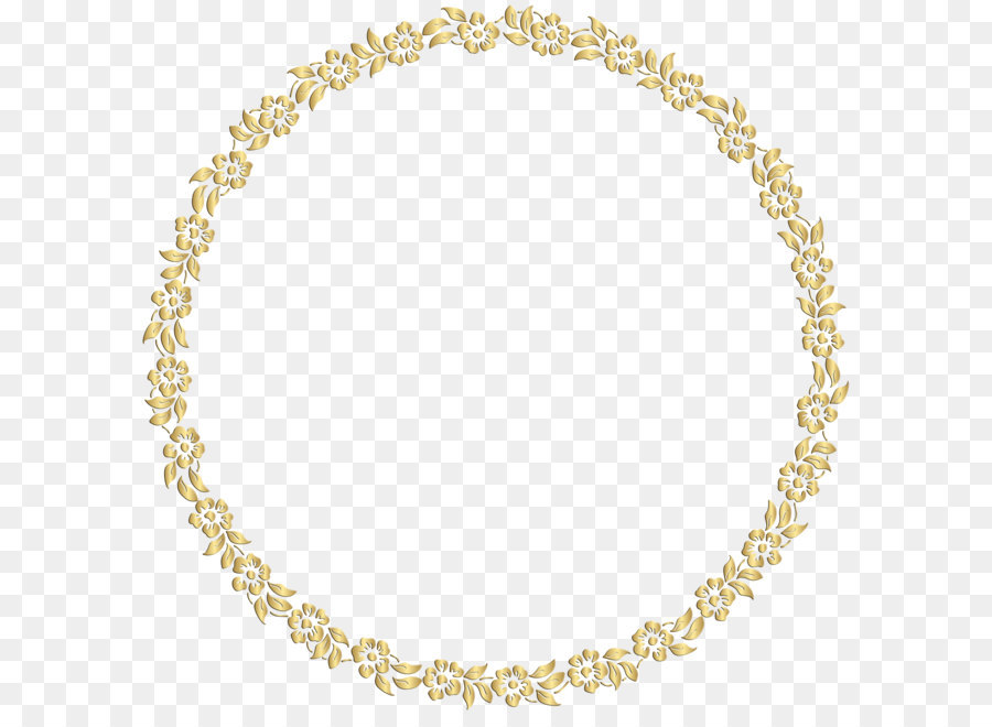 Picture Frame Gold Mirror Clip Art Golden Round Floral