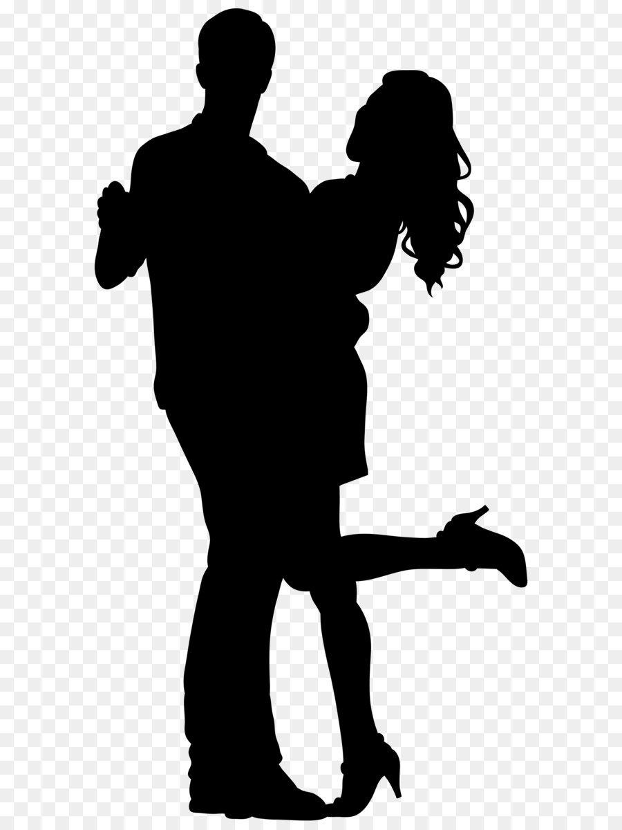 Silhouette Clip Art Couple Dancers Silhouette Png