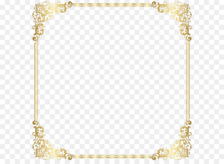 Gold Border Frame Transparent