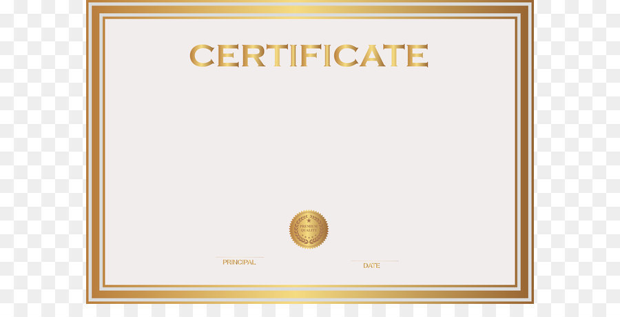 Student Template Academic Certificate Clip Art White And Gold