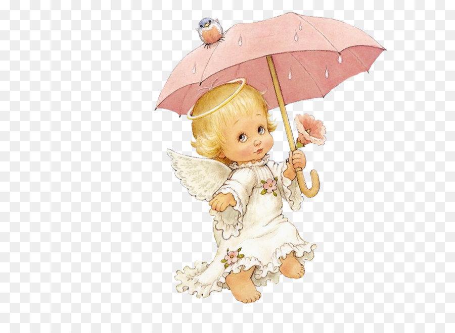 Engel Baby Kind Clipart Süße Engel Mit Sonnenschirm Free Clipart