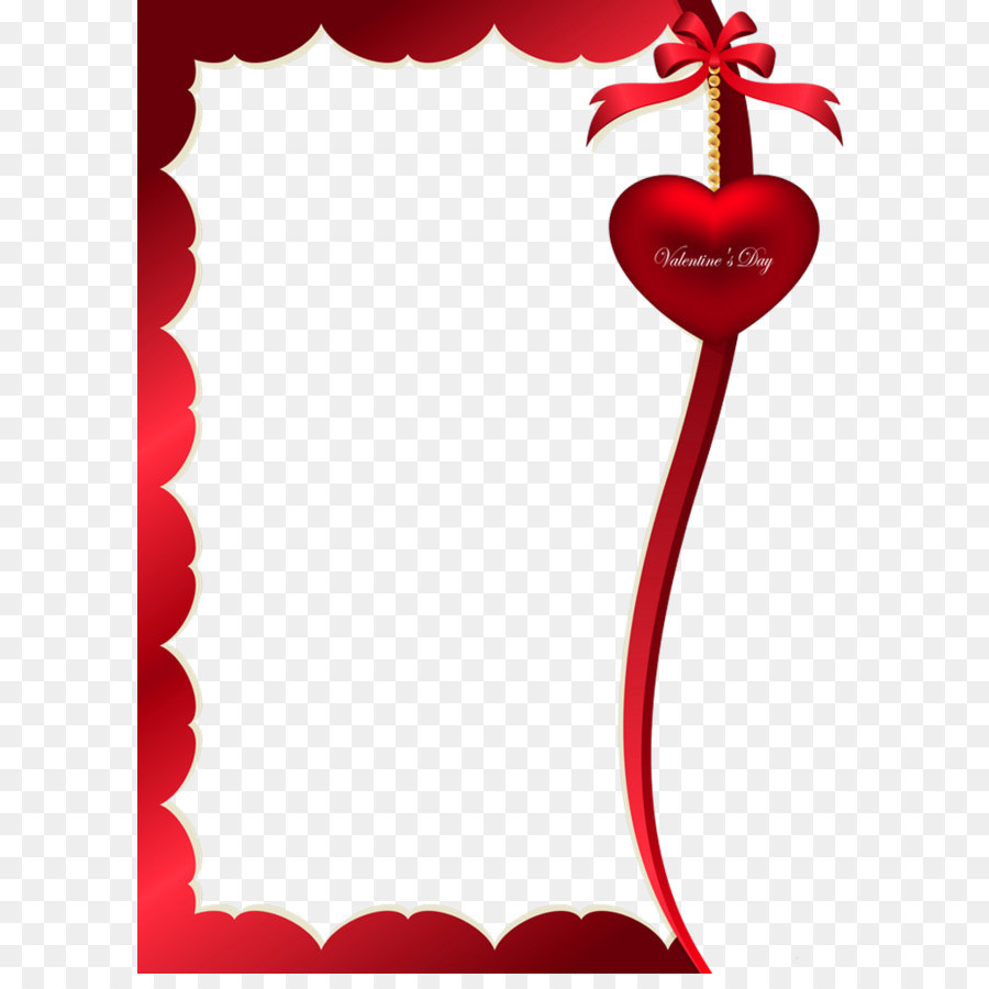 Valentine\'s Day Picture frame Clip art - Valentines Day Decorative ...