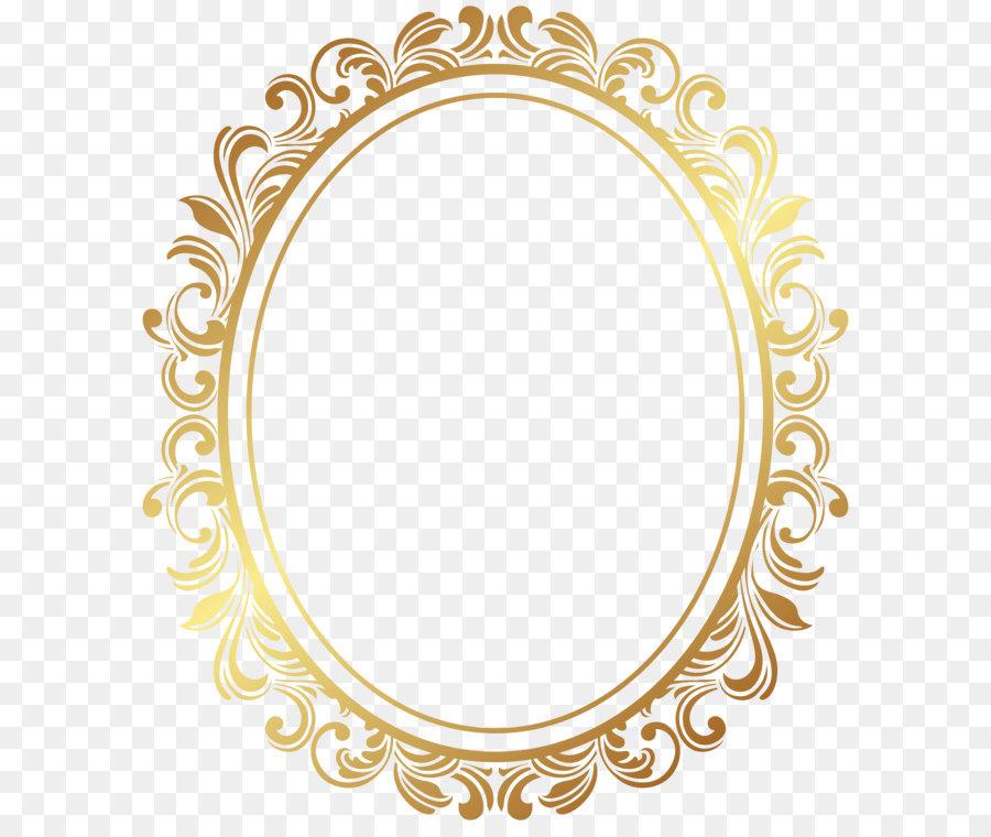 Picture Frame Oval Border Deco Frame Png Clip Art 6935