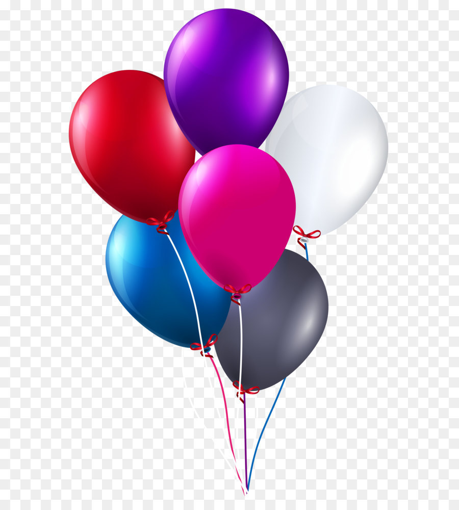 Balloon Birthday cake Clip art Colorful Bunch of Balloons PNG
