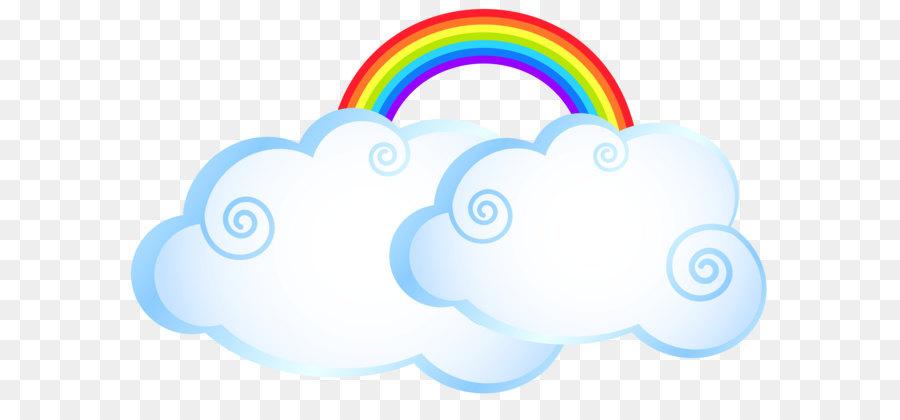 Arco De Imagen Png Png Dibujo: Arco Iris En La Nube De Dibujos Animados