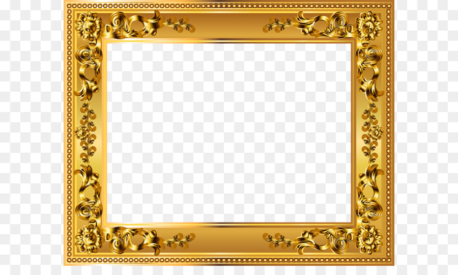 d3f3f91d17f5 Picture frame Gold Clip art - Gold Deco Border Frame Transparent PNG Image  png download - 5000 4016 - Free Transparent BORDERS AND FRAMES png Download.