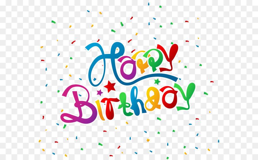 Birthday Wish Greeting Card Clip Art Happy Birthday With Confetti