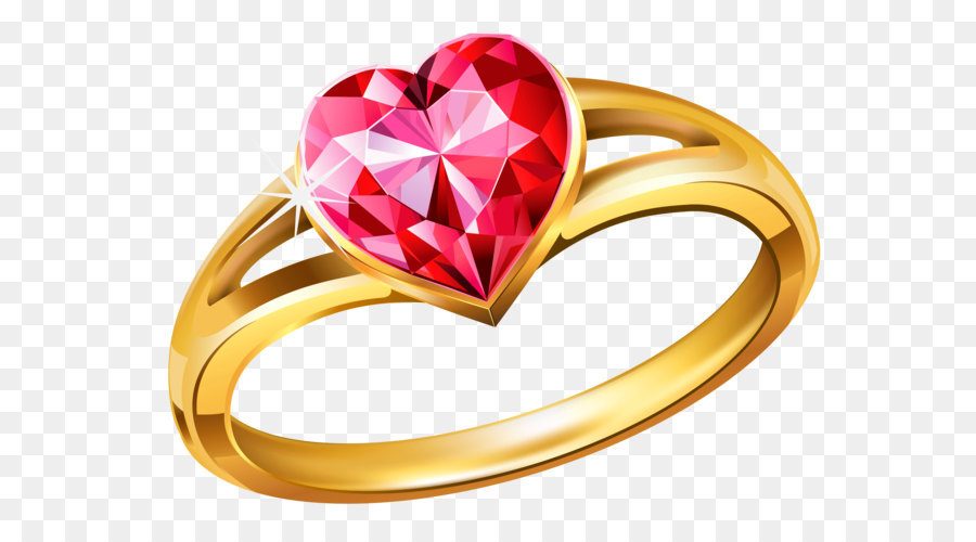 wedding ring clip art gold ring with pink diamond heart png rh kisspng com ring clipart picture ring clipart no background