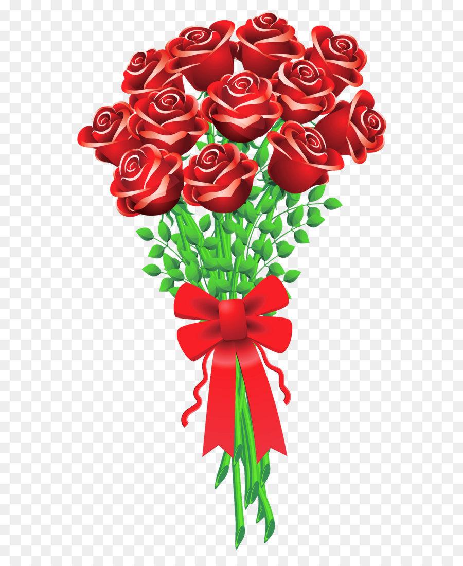Valentine\'s Day Flower bouquet Rose Clip art - Rose Bouquet PNG ...