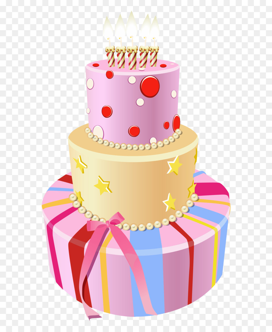 Birthday Cake Clip Art Pink Birthday Cake Png Clipart