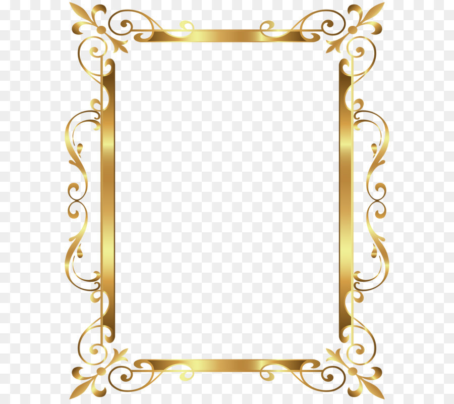 Gold frame Clip art - Gold Border Frame Deco Transparent Clip Art ...