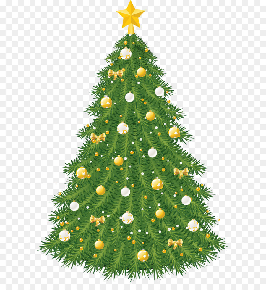 christmas tree christmas ornament clip art large transparent christmas tree with gold and white ornaments