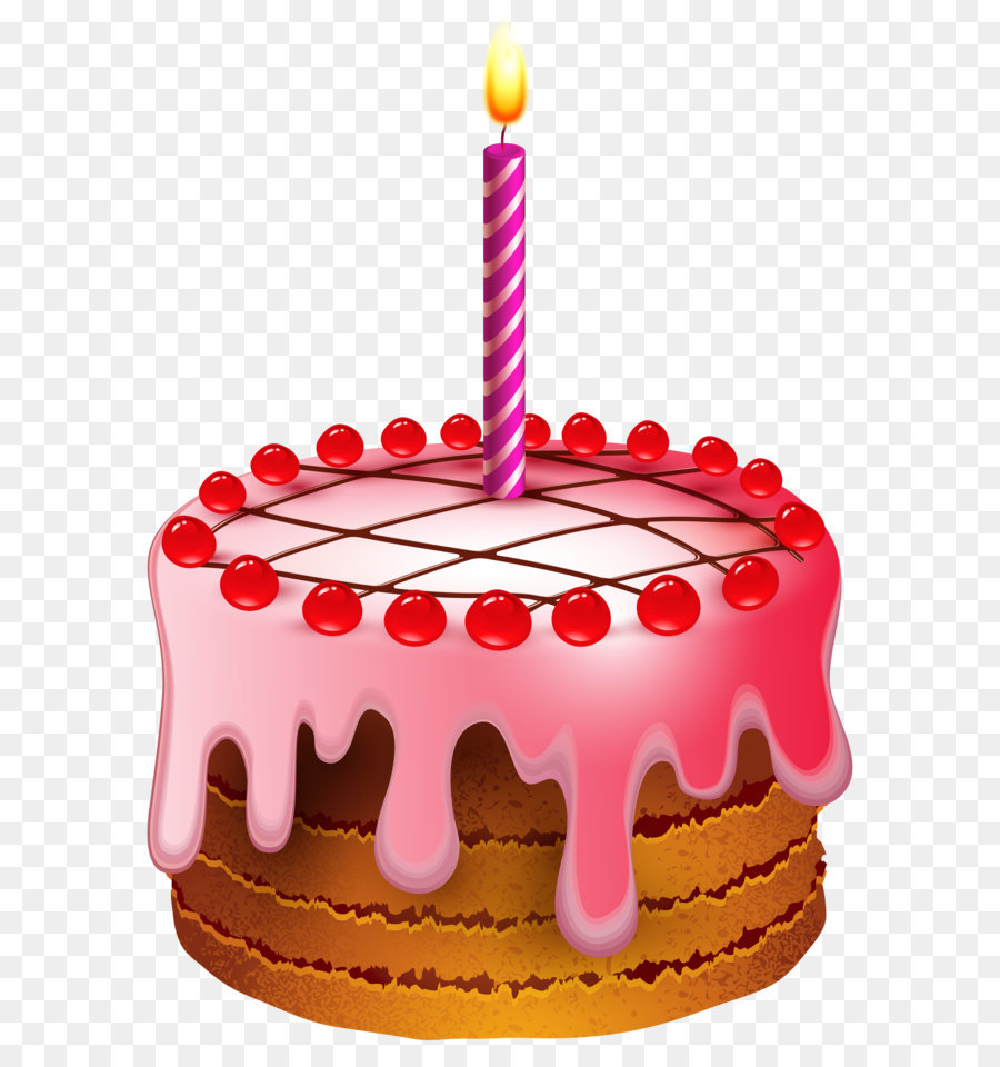 Birthday Cake Clip Art Birthday Cake With Candle Transparent Clip