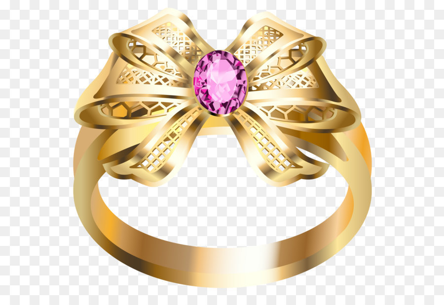 Earring Jewellery Diamond Gold Gold Ring with Pink Diamond and Bow