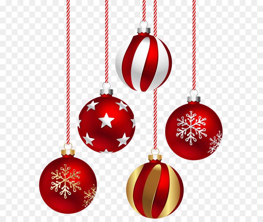 Santa Claus Adorno De Navidad Clip Art Bolas De Navidad - Bolas-de-navidad-transparentes