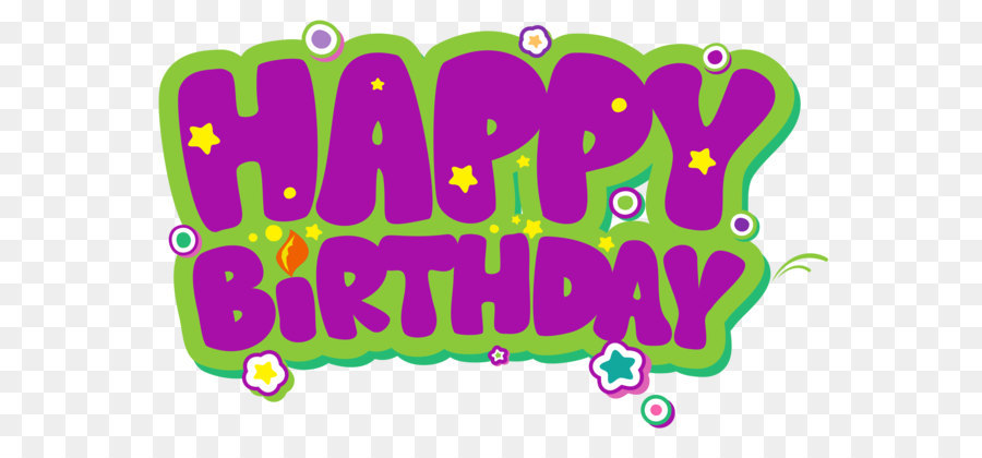 Birthday Cake Clip Art Purple And Green Happy Birthday Png Clipart