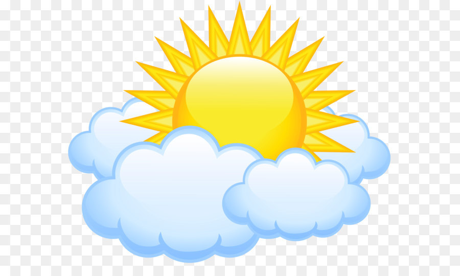 Cloud Sunlight Clip Art Sun With Clouds Transparent Png Picture